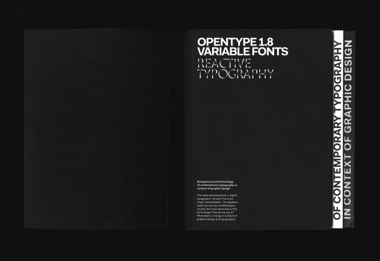 Variable Fonts in Context of Graphic Design