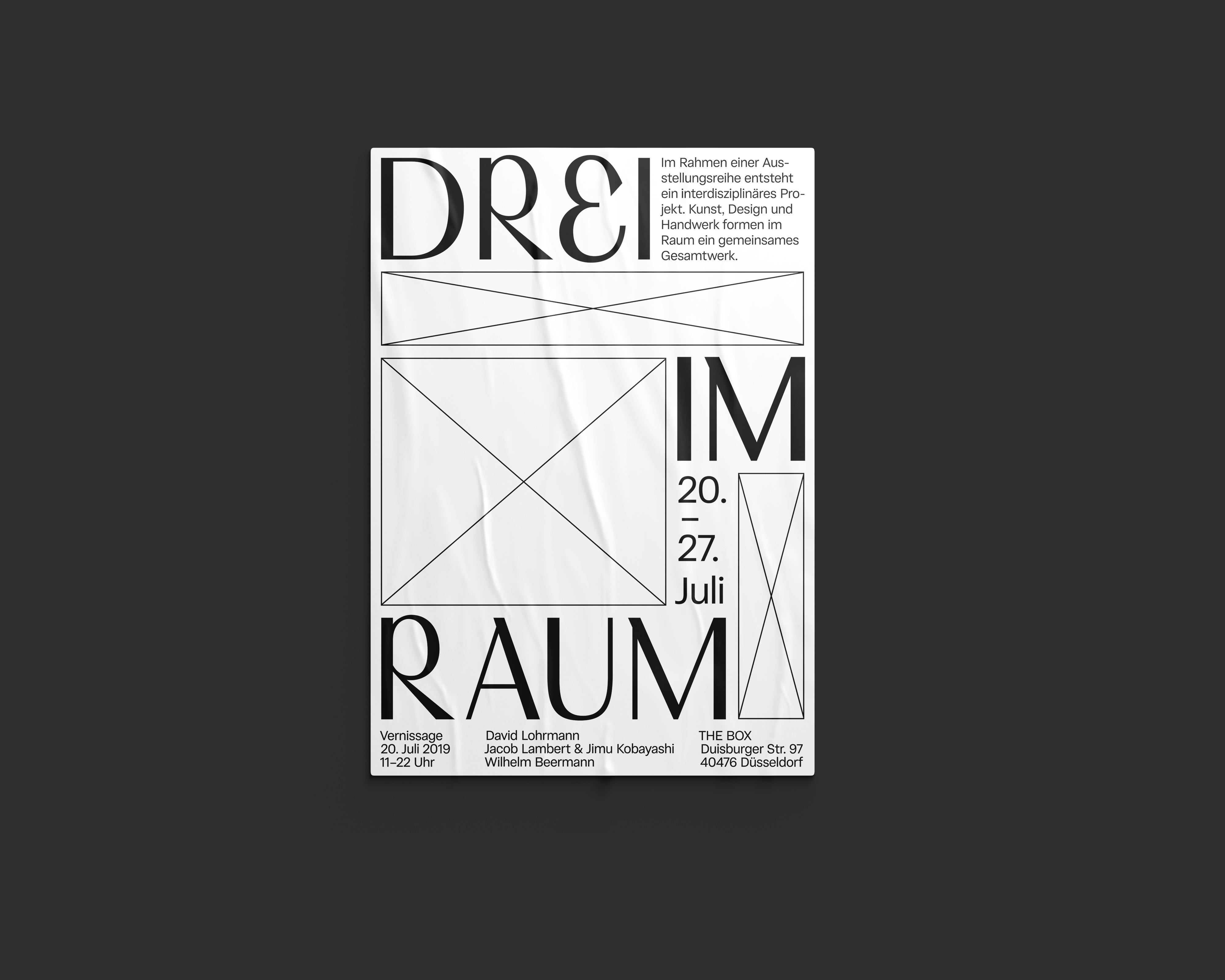 Ausstellung – Drei im Raum Lilli Böse Call for Creatives