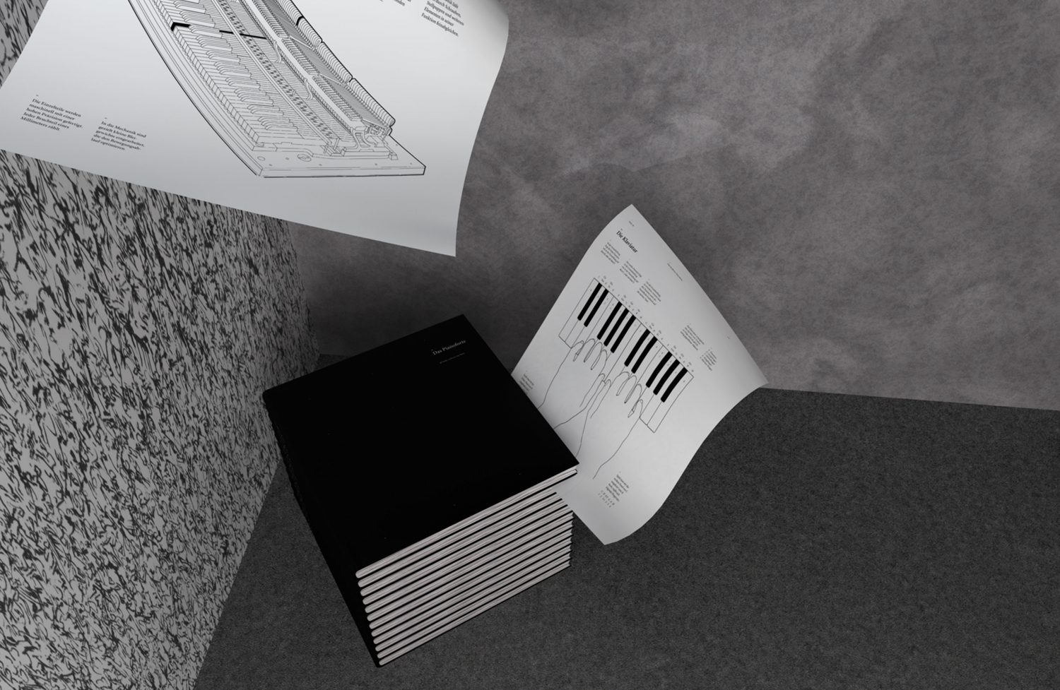 Pianoforte — 88 pages in black and white