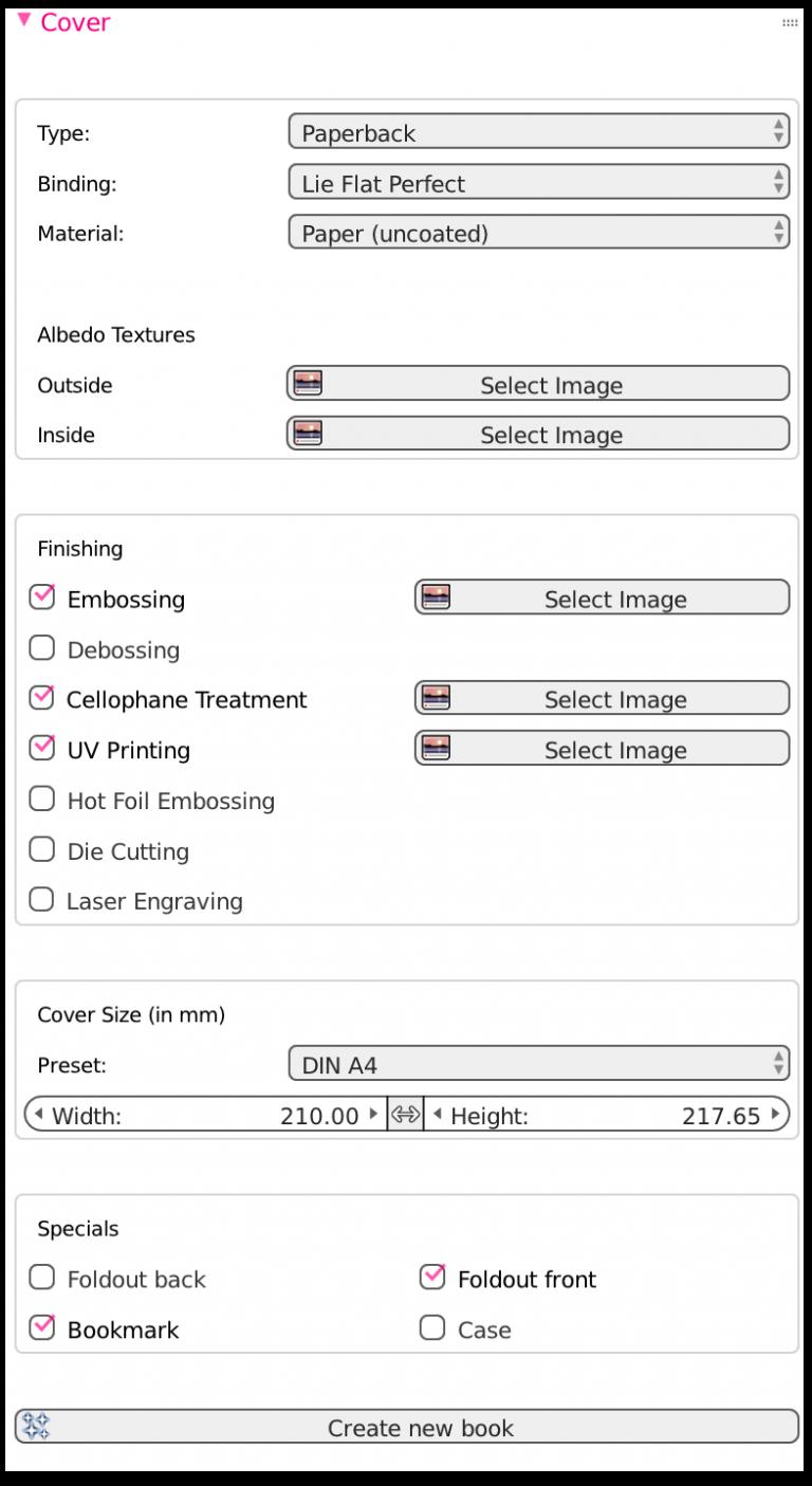 Mockascene –Digital Book Prototyping with Blender3D