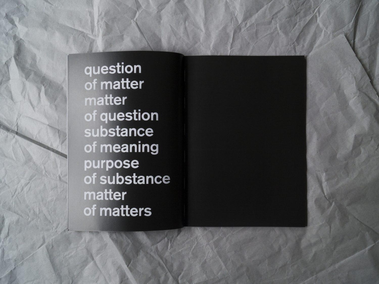 Matter of Matters