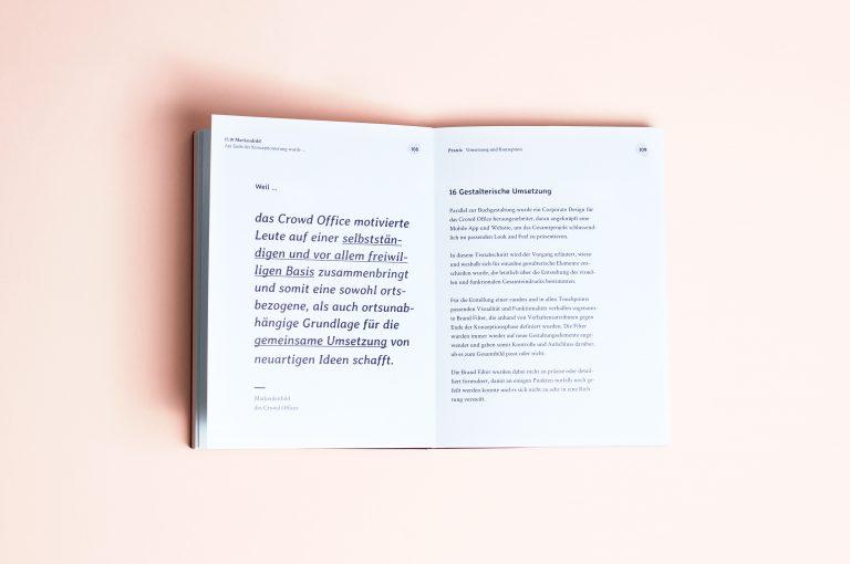 Crowd Office –Konzeption und visuelle Umsetzung eines fiktiven Coworking Spaces